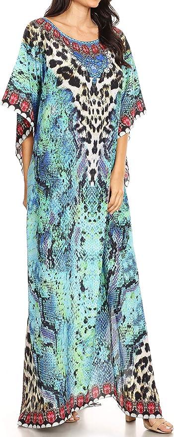 Sakkas 1820 Jabari Women's Maxi Short Sleeve Long Beach