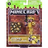 Minecraft Steve in Gold Armor Pack 1 Figure
