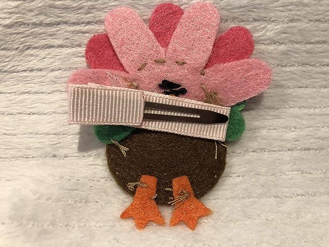 Thanksgiving Hair Clip Preppy Gifts Turkey Hair Clip Girls Hair Accessory