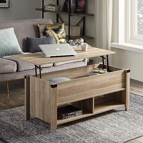 SSLine Lift Top Coffee Table,Modern Wood Home Living Room Lift Top Storage Coffee Table