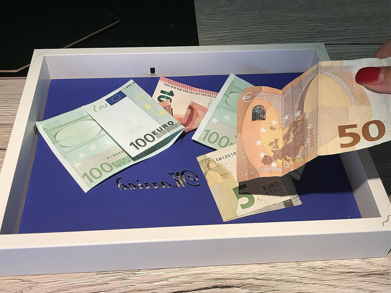 Geldgeschenk Turteltauben mit Herz im Bilderrahmen ...