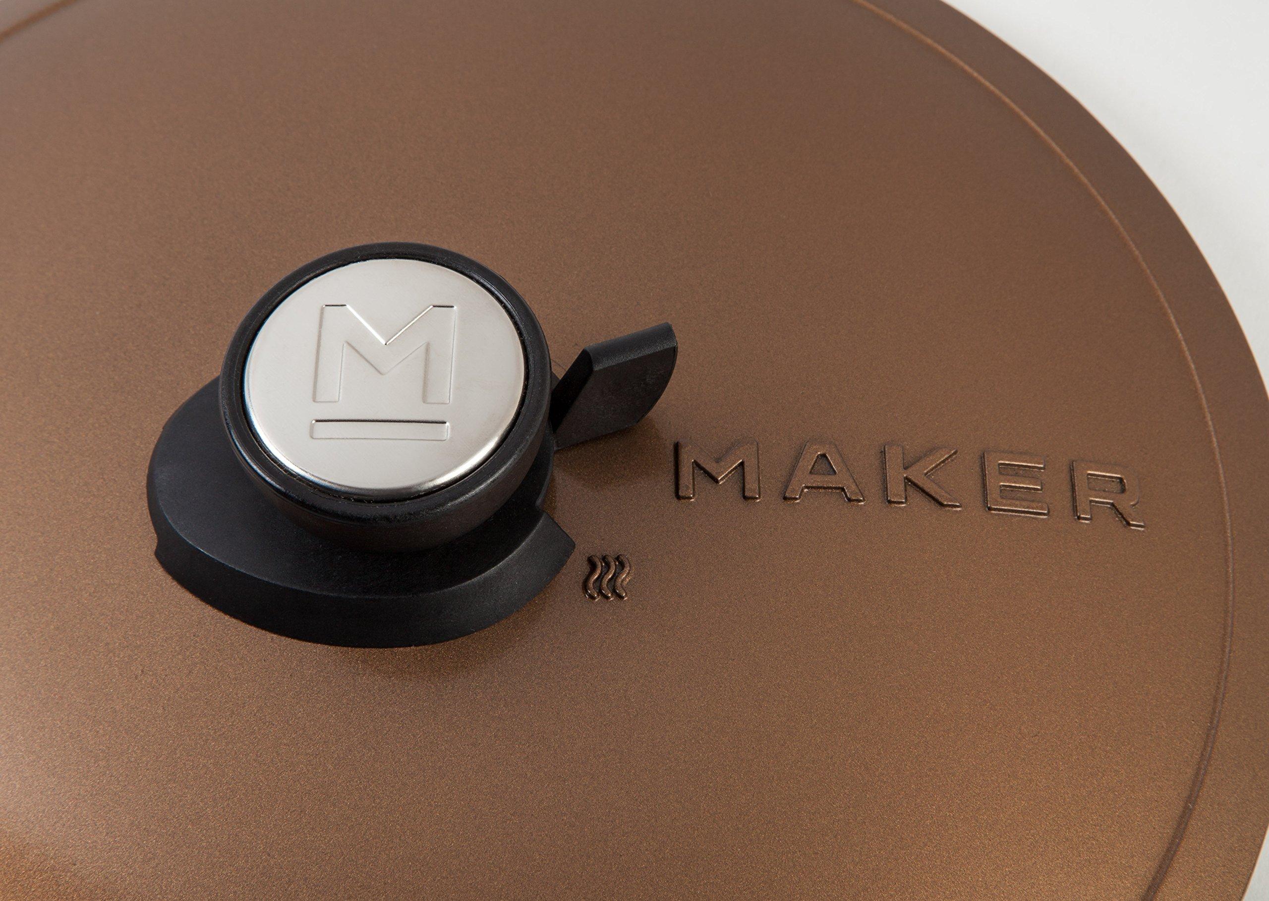 MAKER Homeware 3 QT Cast Aluminum Dutch Oven with Nonstick Ceramic Coating, Bronze by IRIS USA, Inc. (Image #4)