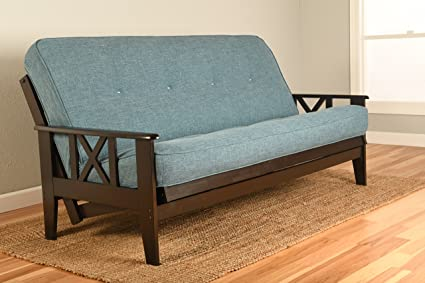 Kodiak Montreal X Espresso Futon Frame W/Quality 8 Inch Innerspring  Mattress Sofa Bed Set