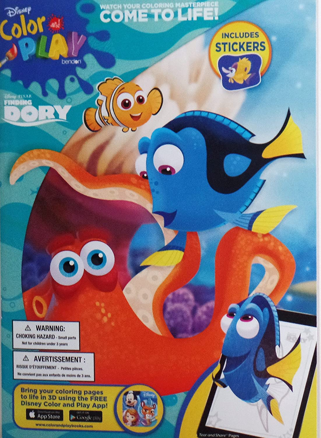 - Amazon.com: Disney Finding Dory Color And Play Coloring Book With