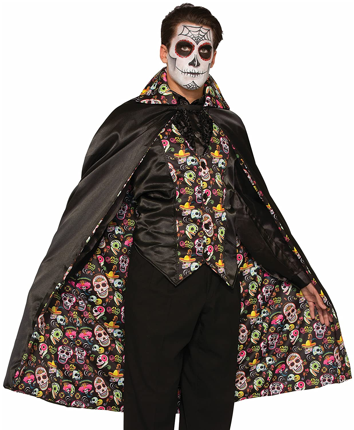 Forum Novelties - Day Of The Dead Cape Multi One Size Forum Novelties Costumes 74686