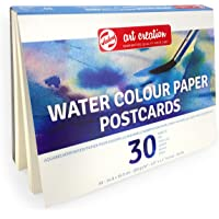 Royal Talens – Art Creation Water Colour Paper Postcards – 30 Sheets – 200gsm – A6