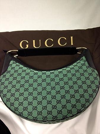 27e5315e2013 Amazon.com : Gucci Signature Fabric Hobo Shoulder Handbag (Black/green) :  Other Products : Everything Else