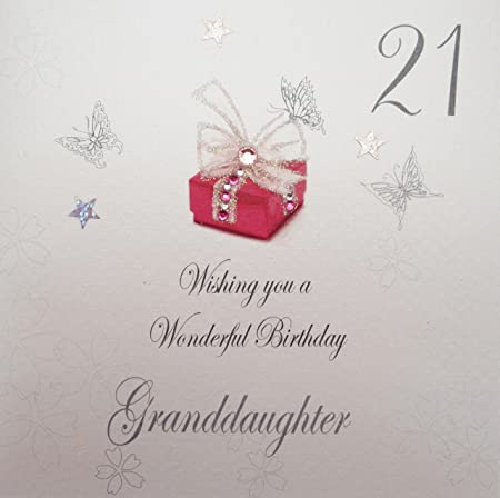 White Cotton Cards 21 Wishing You A Wonderful Birthday