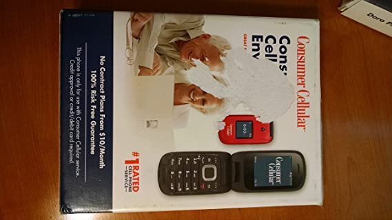 Consumer Cellular Envoy Feature Phone Red Amazon In Electronics