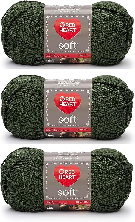 Red Heart Soft Yarn Dark Leaf