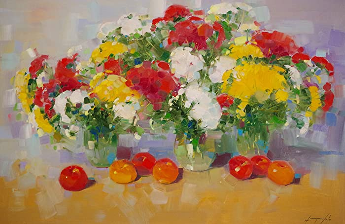 Amazon Vase Of Flowers Original Oil Painting Handmade Artwork