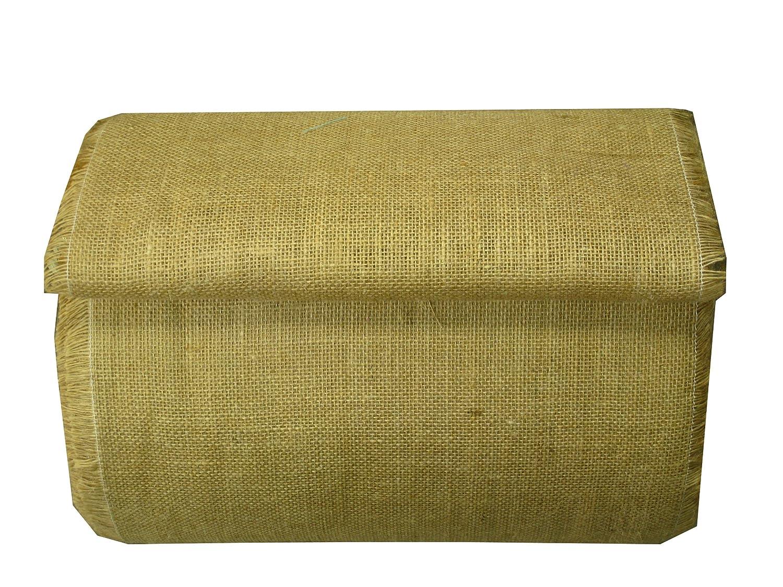 14 Inch Hessian Burlap Roll White strip on the edge - 100 Yards by LA Linen   B00C4ZQC9W