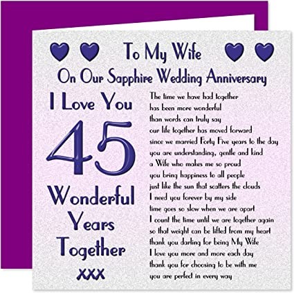 Anniversario Matrimonio 45 Anni.My Wife Anniversario Di Matrimonio Di Anniversario Di 45