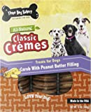 Three Dog Bakery Classic Cremes Carob with Peanut Butter Filling Baked Dog Treats, 13-Ounce