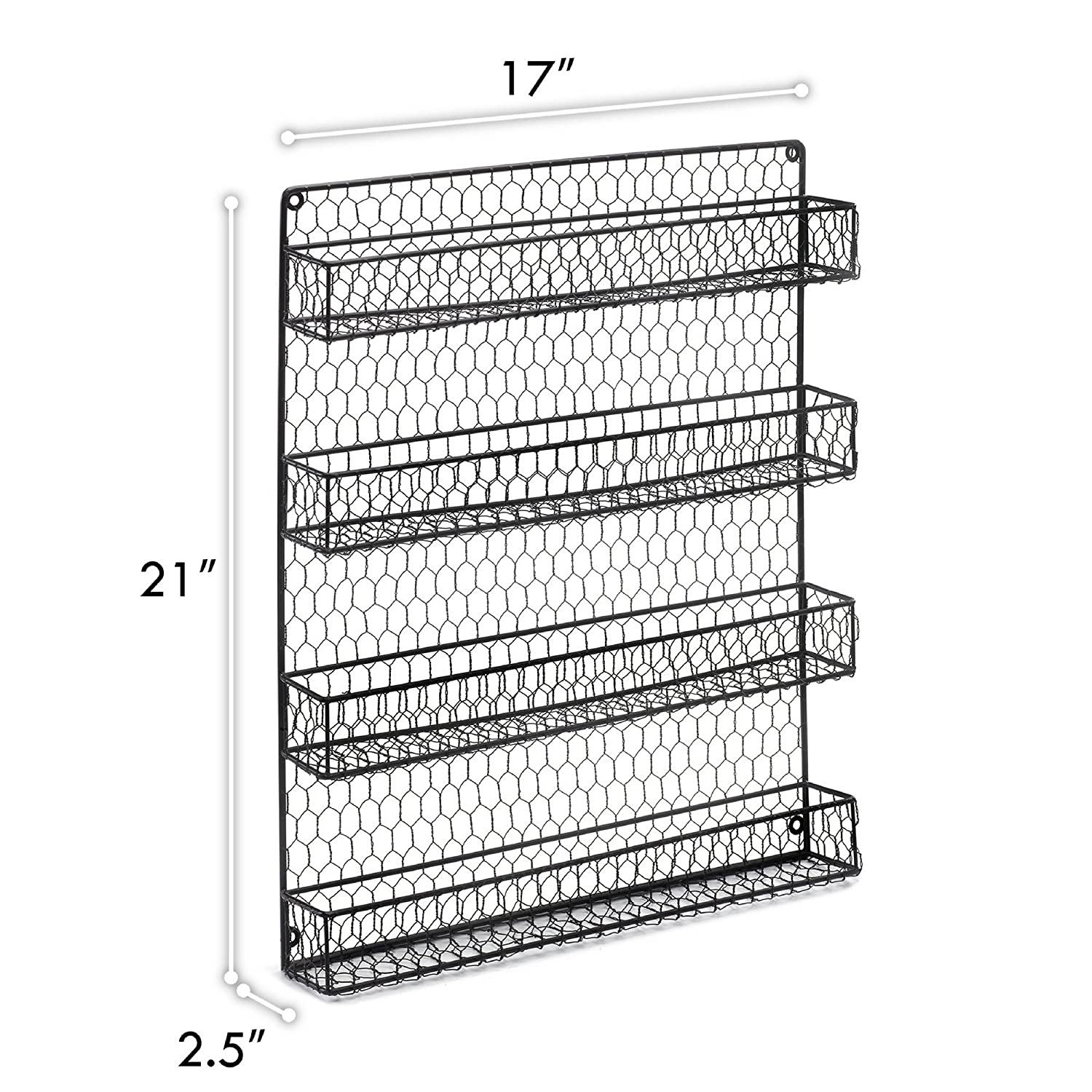 Amazon.com: 4 Tier Country Metal Chicken Wire Spice Rack from 1790 ...