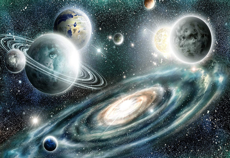 Planeten Im Weltall Vlies Fototapete Fototapete Fototapete Fotomural - Wandbild - Tapete - 254cm x 184cm   2 Teilig - Gedrückt auf 130gsm Vlies - 11896V4 - Sterne & Weltraum B07K1KDDD3 Wandtattoos & Wandbilder 0219ef