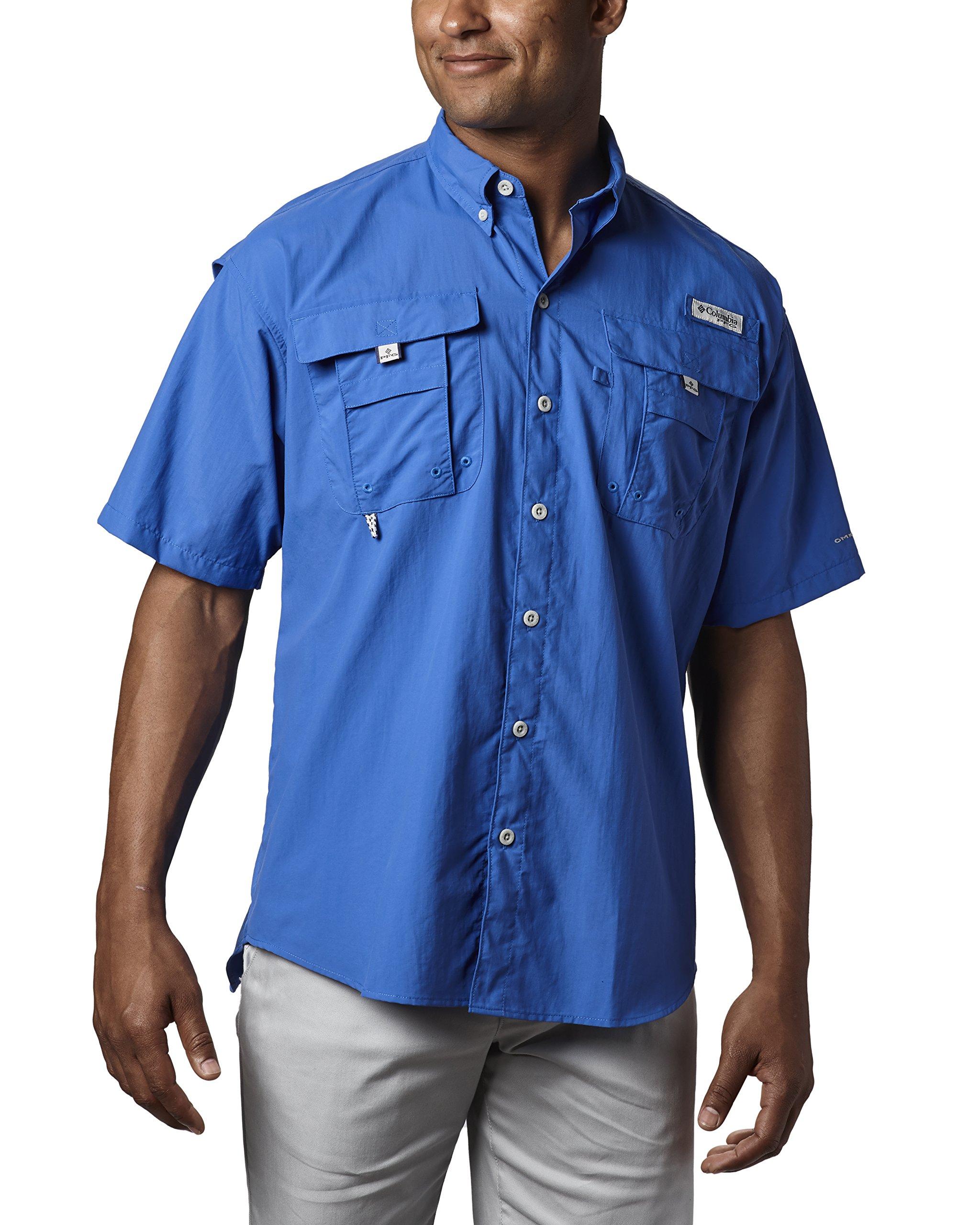 Columbia Men's Bahama II Short Sleeve Shirt (X-Large, Vivid Blue)