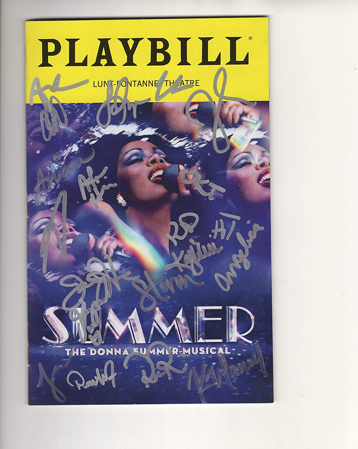 SUMMER THE MUSICAL AUTOGRAPHED NYC PLAYBILL+COA DONNA SUMMER