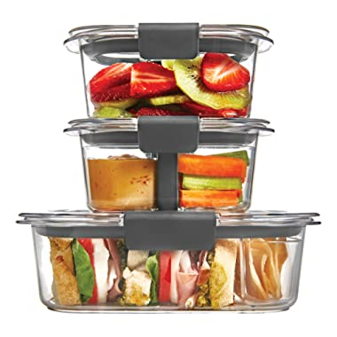 Rubbermaid Brilliance Food Storage Container, Sandwich and Snack Lunch Kit, Clear, 10-Piece Set 1997842