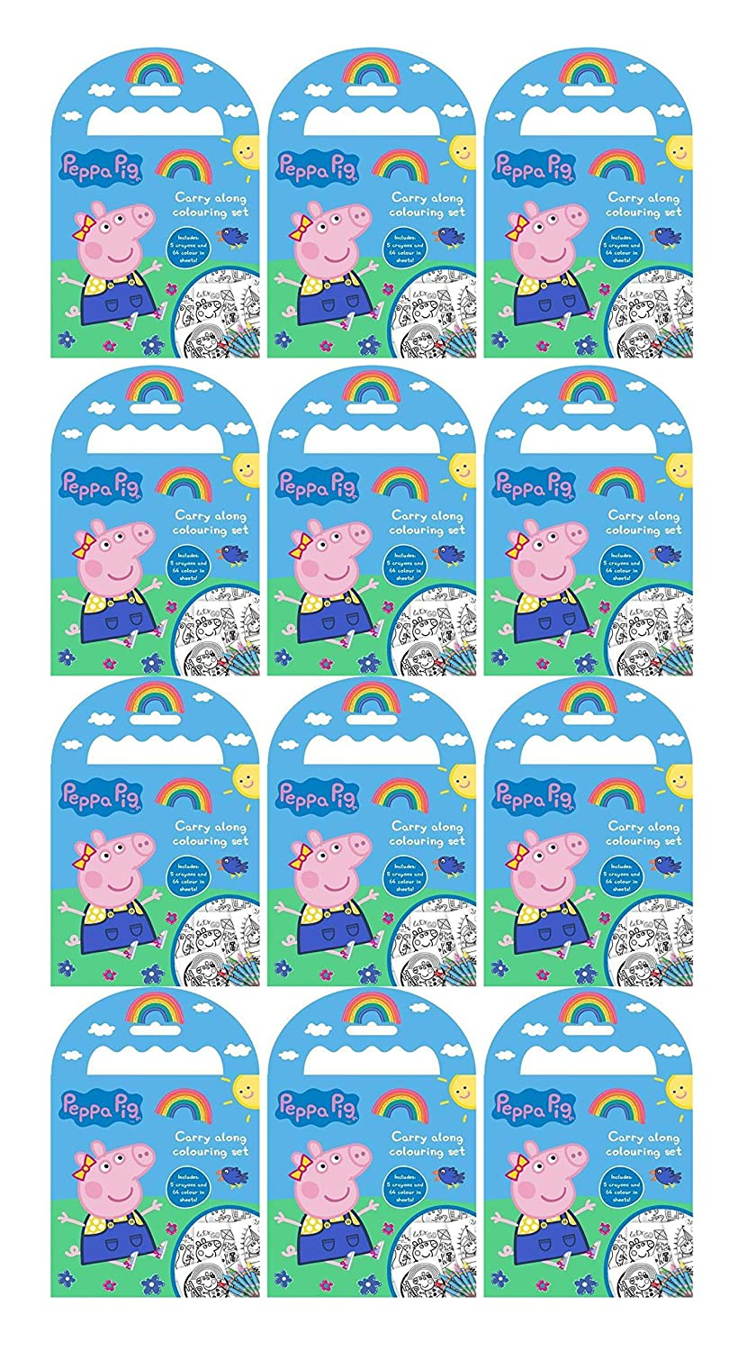 Peppa Pig Carry Along Colouring Sets (12 Pack) Alligator PECAR1-12