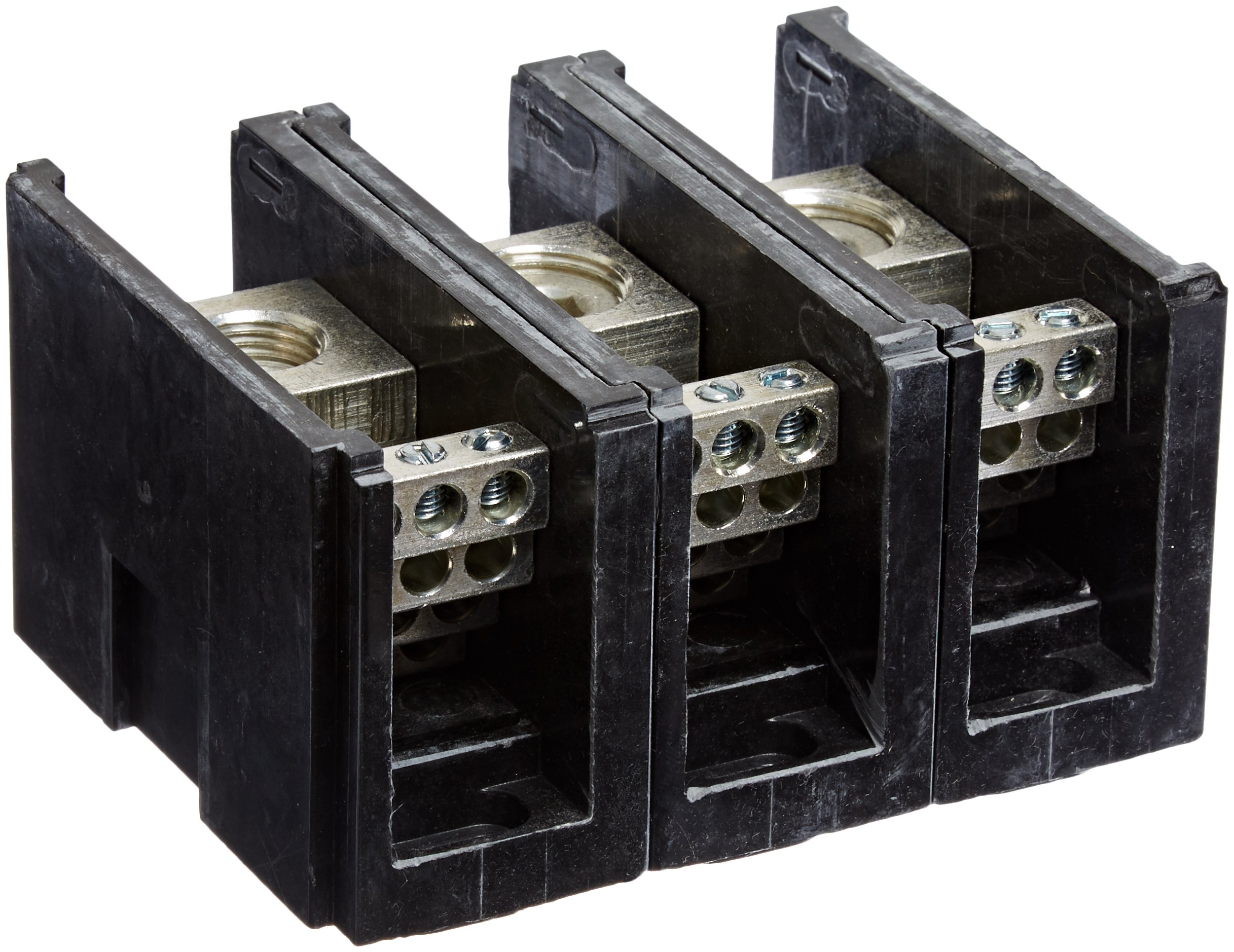 Power Distribution and Terminal Block, Connector Blok - Single Primary - Multiple Secondary, 500MCM-4 AWG Line and 4-14 AWG Load Side Configuration, 1.71'' Width, 2.62'' Height, 4.00'' Length by NSI