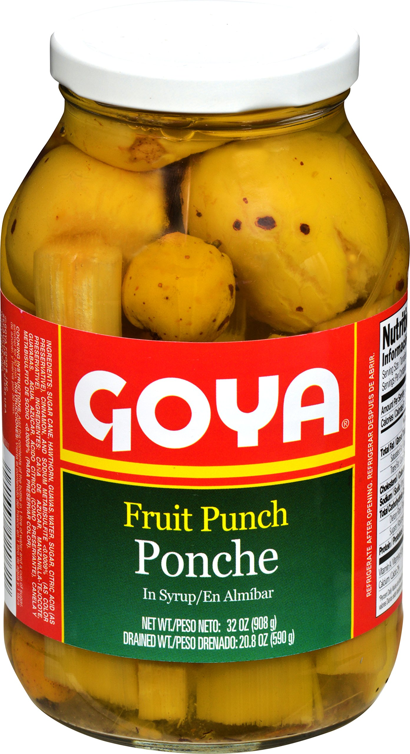 Goya Foods Fruit Punch Ponche In Syrup, 32 Ounce (Pack of 12)