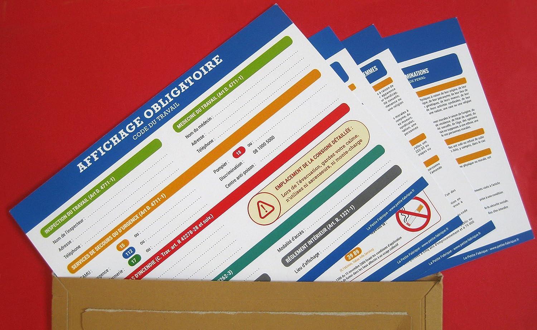 Affichage Obligatoire Code Du Travail Plastifie Et Effacable
