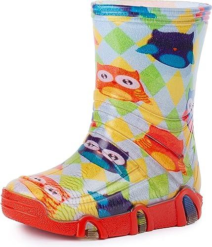 Ladeheid Botas de Agua Zapatos de Seguridad Calzado Unisex Niños ...