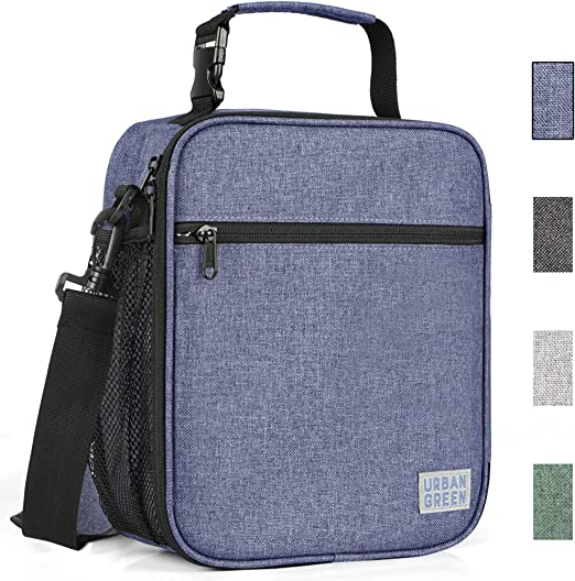 Insulated Lunch Tote Bag Sack Cooler Box School Pack Mesh Water Bottle Pocket