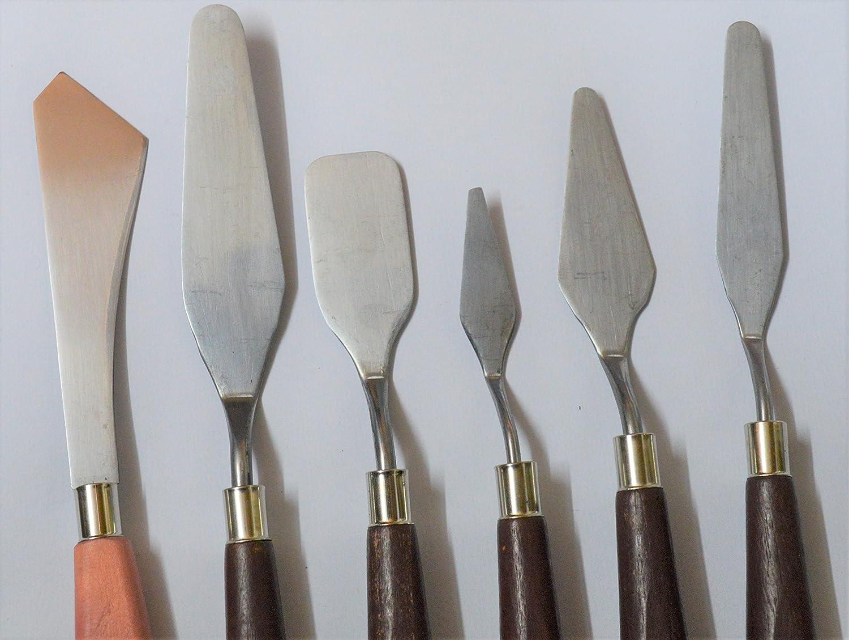 HONGBE METAL ARTIST ACRYLIC PAINTS, OIL PAINTS, METAL PALETTE KNIFE SET