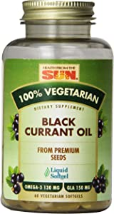 Health From The Sun 100% Vegetarian Black Currant Oil Softgels, 60-Count