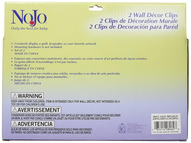 Amazon.com : NoJo Circle Wall Decor Clip, Sage, 2 Count : Nursery ...