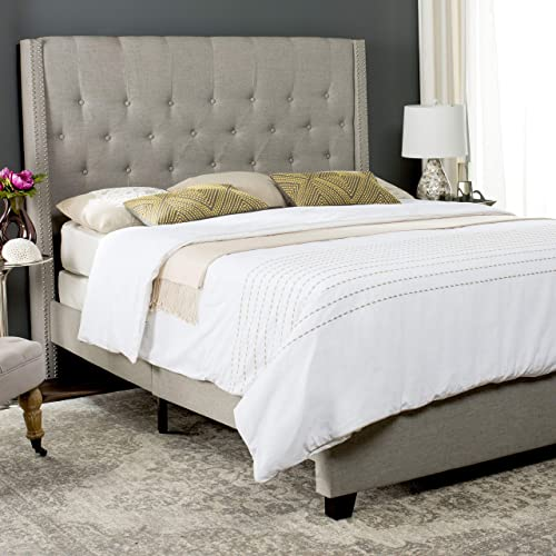 Safavieh Home Collection Winslet Light Grey Espresso Bed