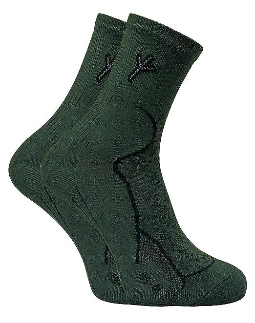 Dr Hunter - 2 Pares Hombre Cómodo Antibacterianos Trekking Senderismo Algodón Calcetines para Andar y Pescar y Caza: Amazon.es: Ropa y accesorios