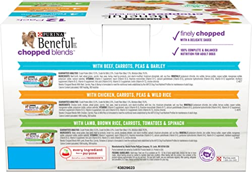Purina Beneful Chopped Blends Adult Wet Dog Food Variety Pack