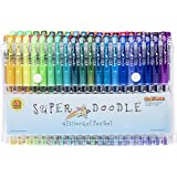 Super Doodle Glitter Gel Pens - 80 Unique Glitter Colors - Artist Quality Gel Pen Set for Adult Coloring Books, Arts and Crafts for Kids, Scrapbooks, Greeting Cards, and Drawing