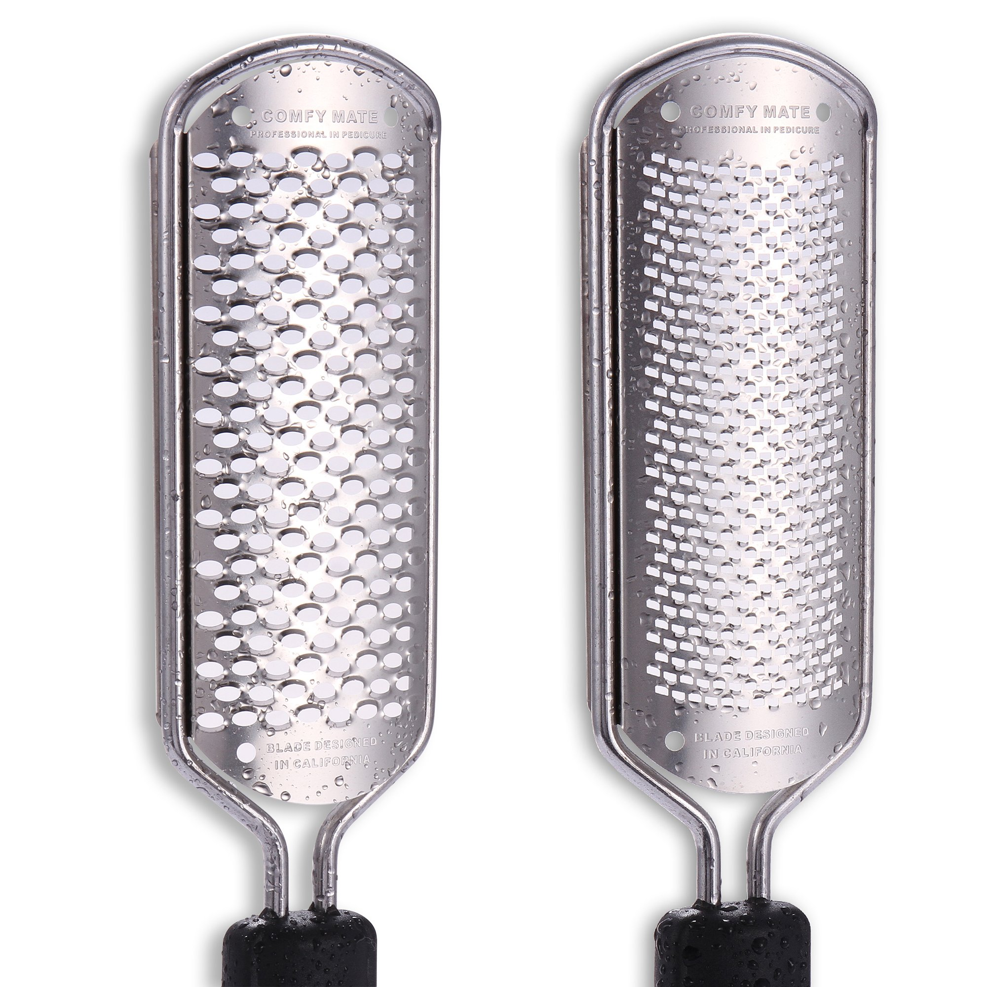 Best Deal 2 Blades Pedicure Foot File Scrubber Rasp Feet Callus Shaver Cuticle Cutter and Corn Remover Pedi tool (2 Blades)