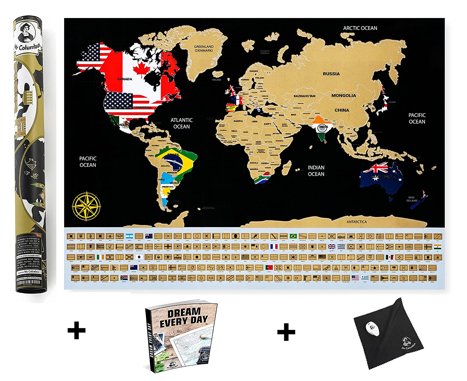 On sale scratch off world map poster with country flags for on sale scratch off world map poster with country flags for travel education and fun perfect gumiabroncs Choice Image