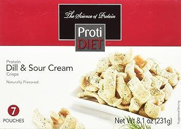 Amazon Com Protidiet Dill Sour Cream Protein Crisps 7 Pouches