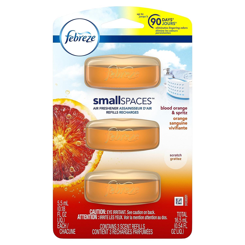 Febreze Small Spaces Air Freshener Refills, Blood Orange & Spritz, 3 Count Procter and Gamble