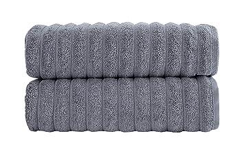 Amazon.com: Juego de toallas de baño de lujo, algodón ...