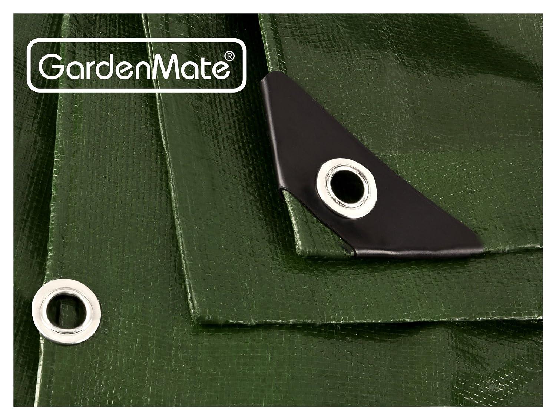 GardenMate 1,5x6m 200g//m/² Premium Gewebeplane Abdeckplane Schutzplane Bootsplane Gr/ün schwere Qualit/ät
