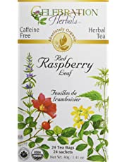 Celebration Herbals Red Raspberry Leaf Tea Organic 24 Tea Bag, 40Gm