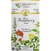 CELEBRATION HERBALS Red Raspberry Leaf Tea Organic 24 Bag, 0.02 Pound