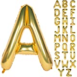 Letter Balloons 40 Inch Giant Jumbo Helium Foil Mylar for Party Decorations Gold A