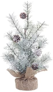 small icy pine and burlap pedestal 12 inch artificial christmas tree decoration - Charlie Brown Artificial Christmas Tree