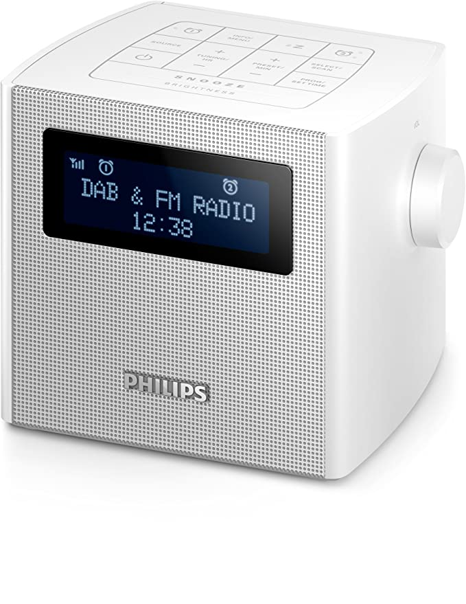 Philips AJB4300W/12 - Radio (Reloj, Digital, Dab+,FM, 87,5-108 MHz, 1 W, LED): Amazon.es: Electrónica