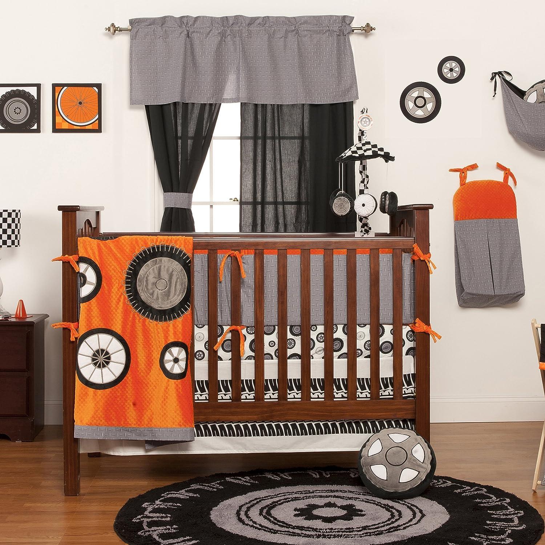 Amazon.com : Neumáticos de Teyo carta de crecimiento Decal, negro, blanco, gris, naranja : Baby