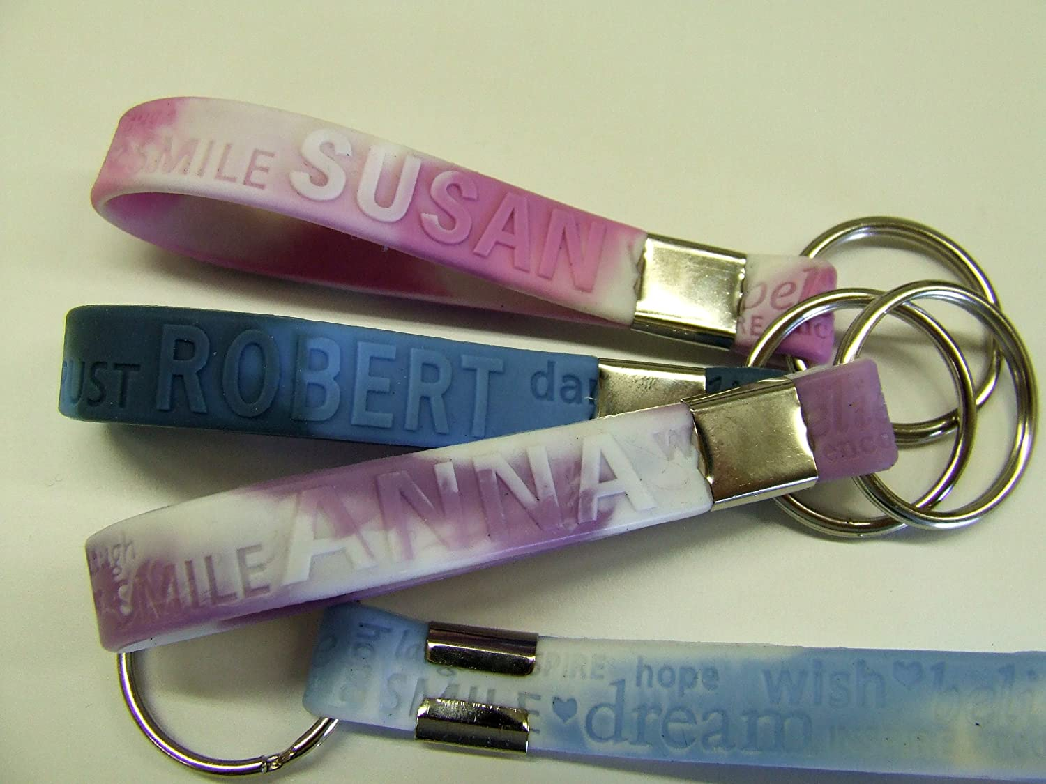 A B C KEYRING with your name 250 types in stock Ideal gift stocking filler Aaron