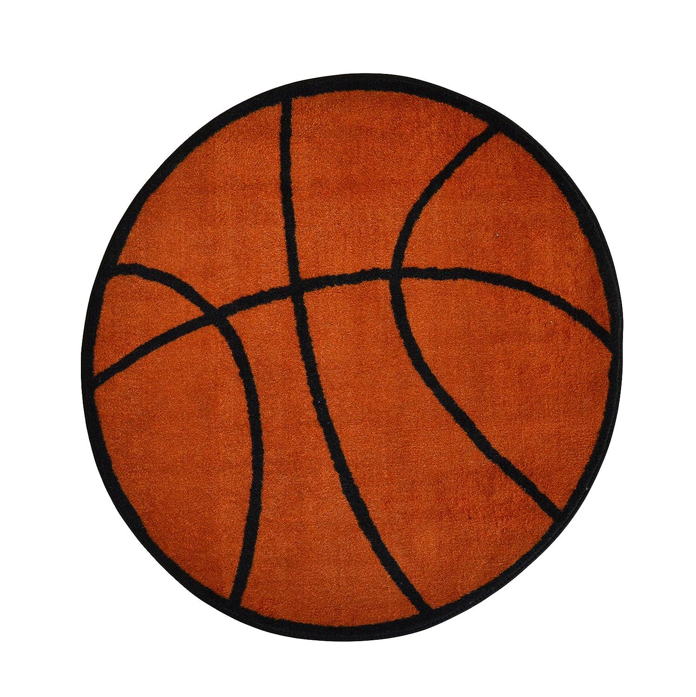 Amazon Com Basketball Rug 39 Round Kids Sports Area Rug Rugs 4